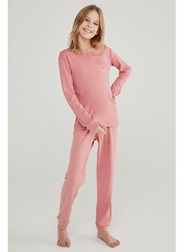 Penti Kız Çocuk Rose Teen Rıb 2'li Pijama Takım PN07XK4220SK Oranj